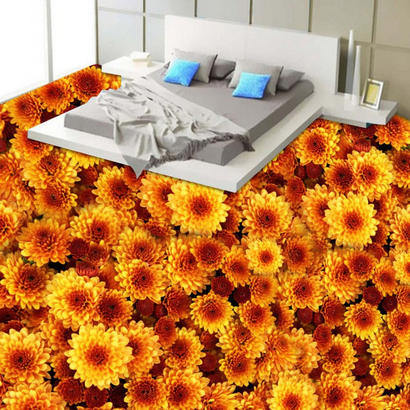 Free shipping custom Flower plants floor vintage floor baby room living room wedding room wallpaper 3d waterproof mural<br>