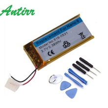 Antirr Brand New 3.7V Li-ion Battery Replacement 330mAh for iPod Nano 6 6th Gen 8GB 16GB with Tools #30(China)