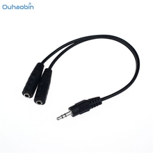 Buy Ouhaobin Black 3.5mm Male Splits Two 3.5mm Female Headphone Audio Adapter Cable Popular Audio Extension Cord Cables Oct25 for $1.14 in AliExpress store