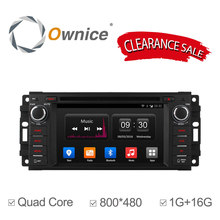 Ownice C300 Android 4.4 car dvd for Jeep Dodge Chrysler quad core gps navi with radio BT 16G ROM support DAB+ mirror link ipod(China)