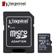 Kingston Micro SD Card Memory Card with Adapter 8GB 16GB 32GB 64GB Class 10 Microsd Memoria SDHC SDXC TF SD Card For Smartphone(China)