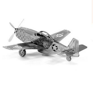 2018 Fashion Cool 3D Metal Puzzle Military Fighter / Aircraft Puzzle DIY Model Best Toys Interests Gifts(China (Mainland))