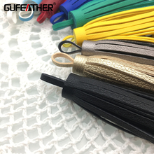 GUFEATHER 10cm Leather tassels/jewelry accessories/accessories parts/diy/jewelry findings & components/jewelry findings