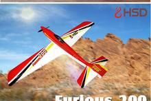 HSD Red Dragonfly Furious 200 RC KIT Plane Model W/O Motor Servo 60A ESC Battery(China)
