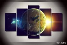 Hd Printed Planet Oceans Two Light Star Painting Canvas Print Room Decor Print Poster Picture Canvas Free Shipping/Ny-1764