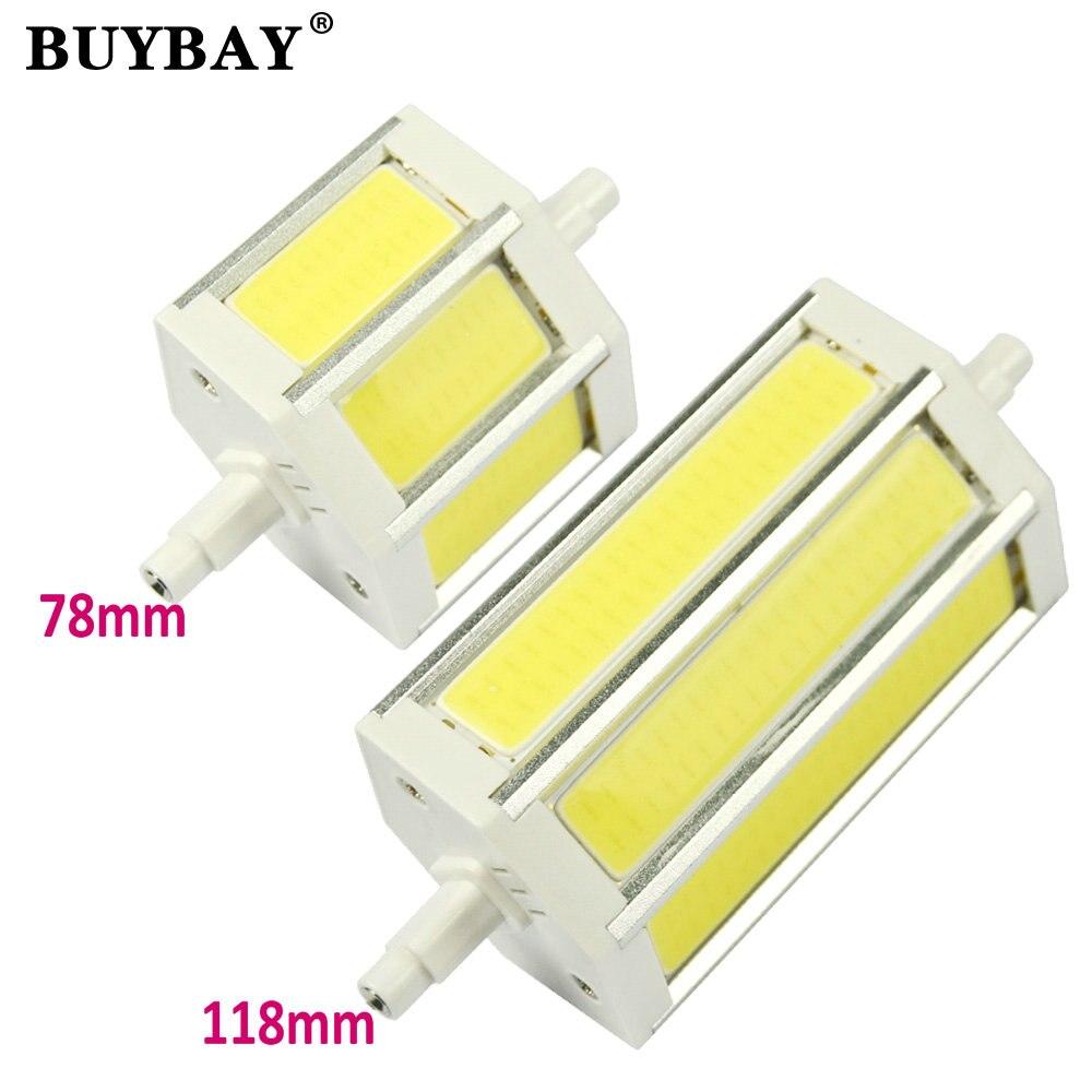 BUYBAY COB R7S LED Lamp 9W 15W 78mm 118mm LED R7S Light Bulb 85-265V Replace Halogen Light spotlight r7s 78 r7s 118 super bright<br><br>Aliexpress