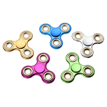 Buy Finger Fidget Spinner Metal Electroplate Hand Spinner Kids EDC Autism ADHD Creative Anxiety Anti Stress Handspinner Toys for $1.96 in AliExpress store