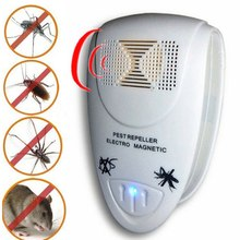 Ultrasonic Pest Repeller Control EU Plug Rat Trap Ultrasonic Repeller Mosquito Electronic Anti Mosquito Rat Mice(China)