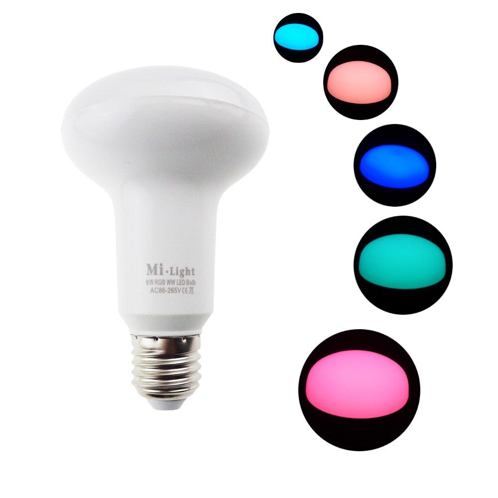 Led Bulb Lamp RGBW RGBWW 2.4G Mi.light 9W E27 base PAR use in AC85-265V wifi wireless smart  Color brightness Support dimmer SW<br><br>Aliexpress