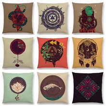 Ancient Technology Mechanics Mysterious Pattern Sacrifice Witchcraft Uncharted Territory Cushion Cover Sofa Throw Pillow Case(China)