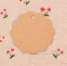 300pcs-Dia. 6cm round blank kraft paper card DIY party gift decoration tag(China)