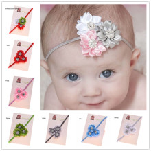 1PCS Satin  Headbands Shabby Chic Headband  Bows headbands  Hair Accessories Rhinestone Flowers headband