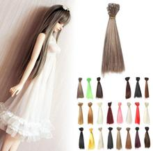 15*100cm DIY Doll Wigs Hair For BJD/SD Doll Hair DIY High-temperature Wire Multi-colors Straight Hair Wigs Free shipping
