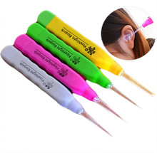 New LED flashlight color selection ear tweezers Set Tool cleaner Curette care to remove ear wax ears A#  dropship