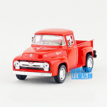 Brand New 1/38 Scale Car Toys 1956 Ford F100 Pickup Diecast Metal Pull Back Car Model Toy For Gift Kids Collection FreeShipping