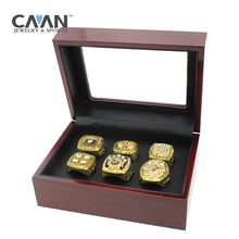 Drop shipping 6 pcs/set Super Bowl 1974 1975 1978 1979 2005 2008 Pittsburgh Steelers replica Championship Ring set for Fans Gift(China)