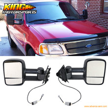 Fit For 97-04 Ford F150 250 Side View Towing Tow Mirrors Non-Heated Pair - Power
