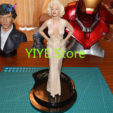 2016 NEW Hot! Sexy Modern Times Goddess Monroe Marilyn blondes 1/4 Statue PVC Action Figure Collection Toys Dolls 45cm AD17