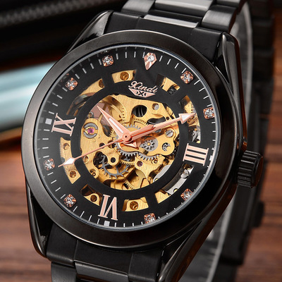 00New XINDI double-sided hollow-out automatic mechanical watch mens watch<br>
