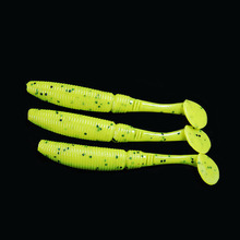 WALK FISH 5PCS/Lot Pesca Artificial 3g/7cm Soft Lure Japan Shad Worm Swimbaits Jig Head Fly Fishing Silicon Rubber Fish