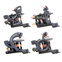 4 pcs Professional Tattoo Machines Dragonhawk Fine Lining Shading Tattoo Gun Coloring Lining 10 Wraps Tattoo Machines
