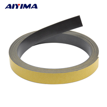AIYIMA 3M Magnetic Stripe 20*1.5MM Rubber Magnets Paste Sided Adhesive Can Cut All Kinds Of Shapes DIY Magnetic Tape For School