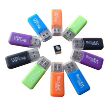 Portable Design High Speed Colorful Available Mini USB 2.0 Card Reader  Micro SD TF Memory Card Reader For PC Laptop Accessories