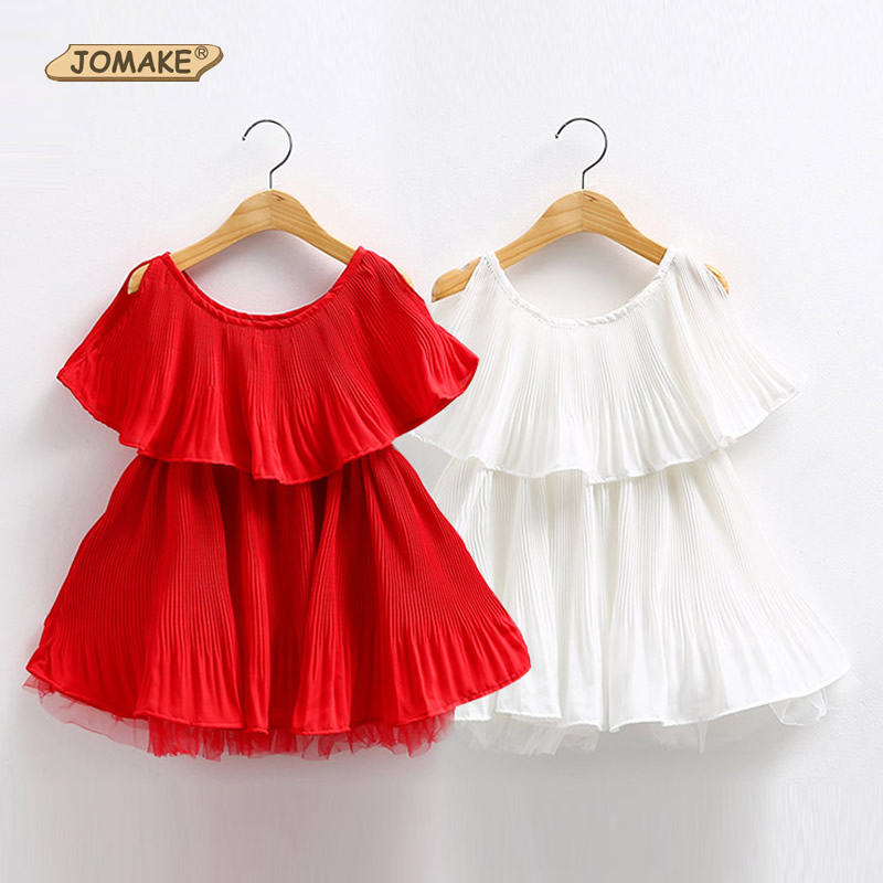 Girls Dresses Summer 2017 Solid Flounced Pleated Kids Princess Dress Girl Party Girls Clothes New Fashion Childrens Clothing<br><br>Aliexpress