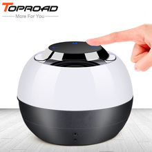 TOPROAD Bluetooth Speakers LED Light Mini Portable Wireless Phone Speaker Soundbar Super Bass Boombox Sound Box with Mic TF Card(China)