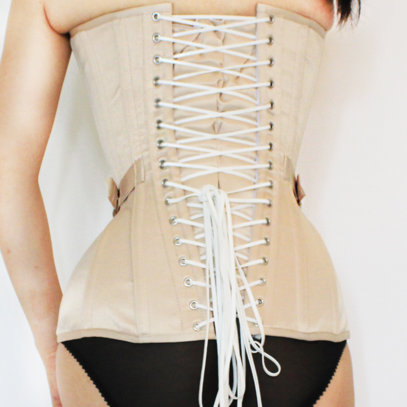 Annzley Corset Victorian Vintage Corset Top With Front Lace And Belt (4)