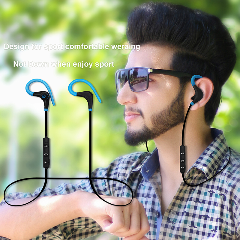 YODELI Bluetooth Headset Wireless Earphones Headphones with Microphone Sport Waterproof Stereo Earbuds for iPhone 8 Mobile Phone (12)