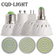 CQD-LIGHT E27 E14 MR16 GU10 LED Bulb Lamp 110V 220V Bombillas LED Lamp Spotlight 48 60 80 LED 2835SMD Lampara Spot Light
