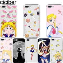 Buy ciciber Sailor Moon Luna Cat Pattern Design Soft Silicone Phone Cases Cover Iphone 7 6 6S 8 Plus 5S SE X Coque Fundas Capa for $1.74 in AliExpress store