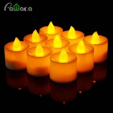 24pcs LED Tea Light Candles Householed led Battery Operated Flameless Candles Church Home Holiday Party Wedding Xmas Decoration(China)