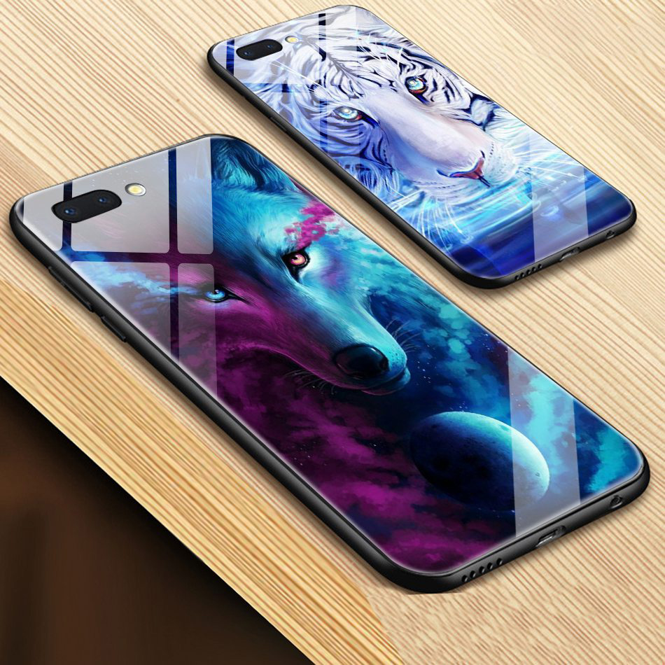 TOMKAS Animal Glass Case For iPhone X 8 7 6s 10 Cover Phone Cases For iPhone X 7 8 6 s Plus Case Luxury Cute TPU PC Covers Coque (3)