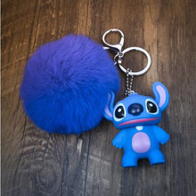 CXZYKING Cute Stitch Plush Toy Animal Totoro Plush Stuffed Dolls For Children Kawaii Keychain Ring Plush Pendant(China)