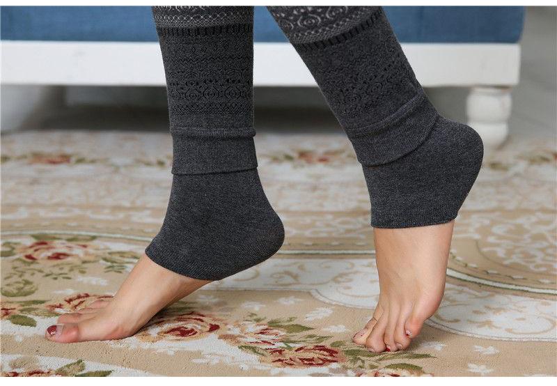 Winter Leggings, Women's High Waist Warm Leggings 16