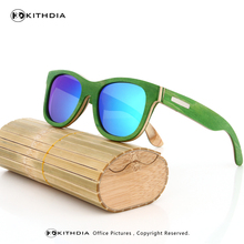 KITHDIA Vintage Designer Skateboard Wood Sunglasses Men Women Fashion Rivet Oculos De Madeira Sunglasses Bamboo Brand Designer