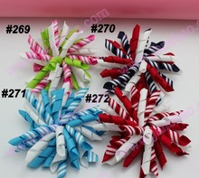 free shipping 1000pcs 3.5 inches korker bows (SEW ONES) mix color korker hair bow colorful girl hair clips korker clips(China)