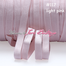 "3/8"" satin elastic without fold over line, #117 lt. pink, good choice for baby headband"