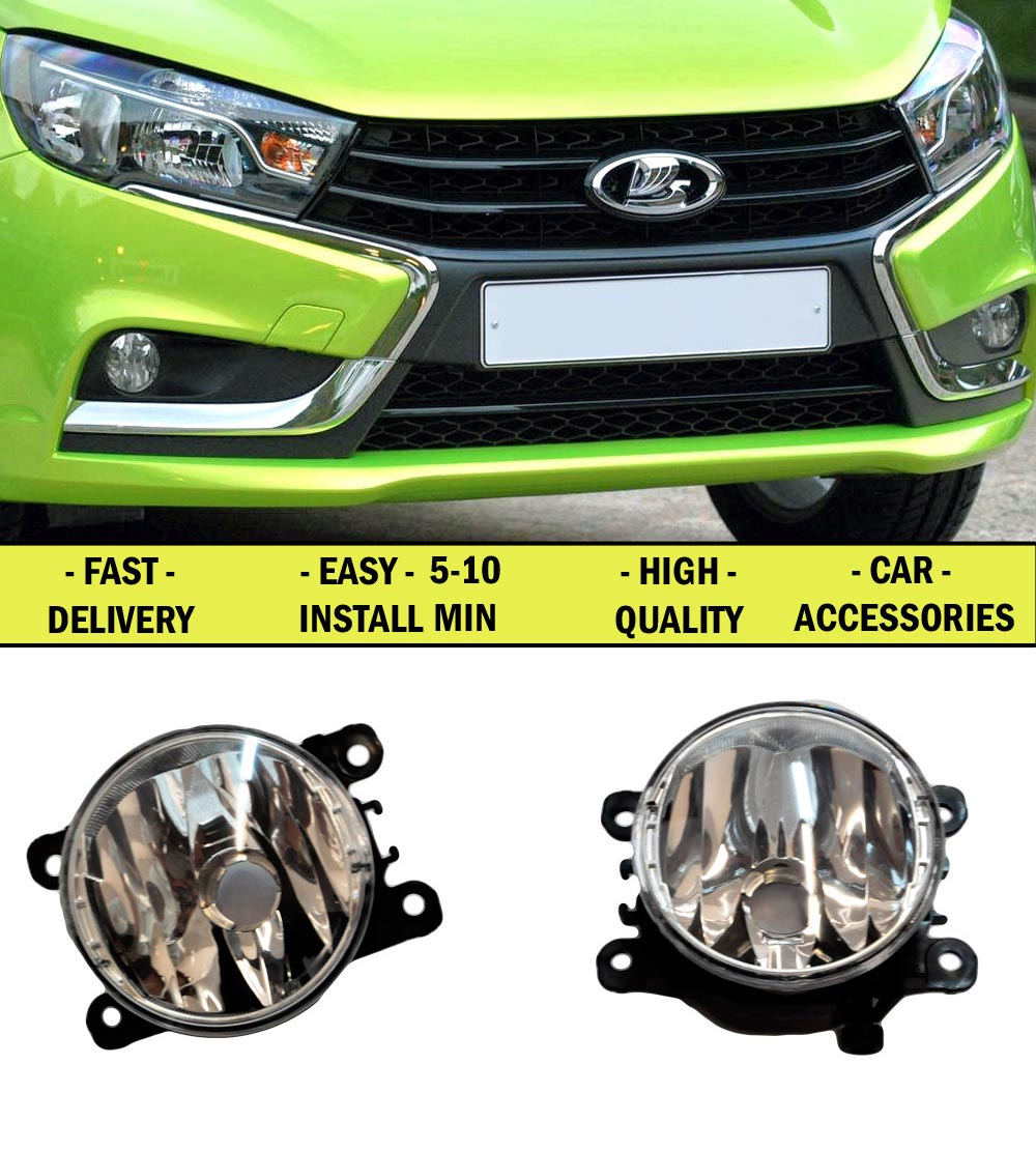 Fog lights for Lada Vesta, X-Ray, Renault 2016 - 2017 2 pcs 2 / 1 set. car accessories styling lights decoration lamps front<br>