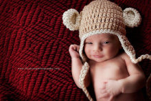 Adorable crochet monkey hat for your baby boy or girl