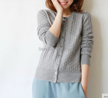 Hemp flowers cardigan cashmere sweater female sleeve head sweater thickening free shipping(China)