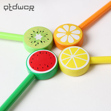 3 PCS Creative Cartoon Fruit Lollipops Gel Pen Good Quality Refill Black 0.5mm Office and School Supplies(China)