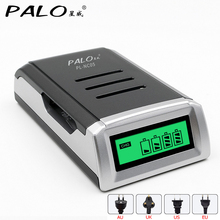 PALO Quick With 4 Slots LCD Display Smart Intelligent Battery Charger For AA AAA NiCd NiMh Rechargeable Batteries Fidget Spinner