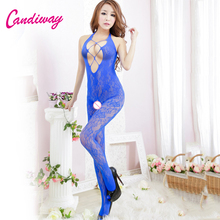 Buy candiway Lingerie sexy hot erotic Fishnet Exotic Apparel bodysuit women catsuit stockings catsuit porn crotchless