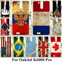 Soft TPU Phone Cases For Oukitel K6000 Pro 5.5 inch Covers UK Russia Flags Soft Silicone Back Cover Shell Skin Housing Case