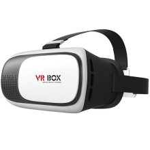 Hot Head-mounted VR 3D Glasses Google Cardboard Version Virtual Reality DIY 3D VR BOX Video Movie Game Glasses with Headband