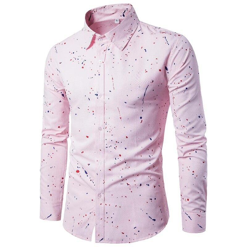 18 Print Men Casual Dress Shirts Long Sleeve Clothes Male Camisa Hombre Square Collar Blouse Plus Size 3XL 9