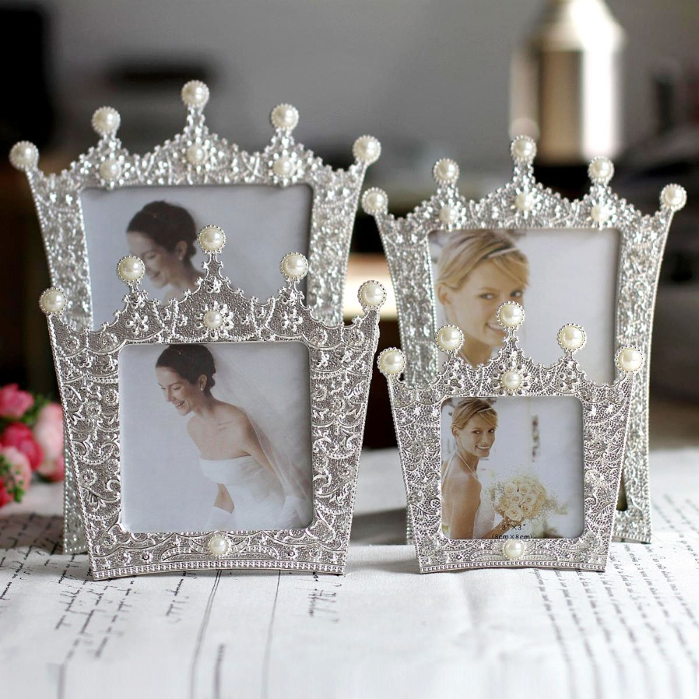 NEW Resin Flower Wedding Photo Frame Cute 4inch Round 6inch Oval ...
